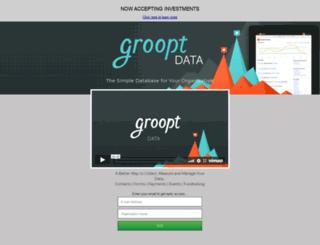 grooptdata.launchrock.com screenshot