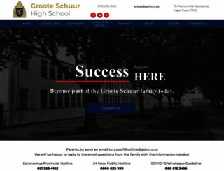 grooteschuurhigh.co.za screenshot