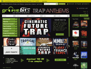 groovebits.com screenshot