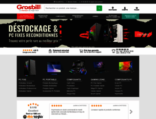 grosbill.com screenshot