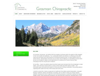 grosmanchiropractic.com screenshot
