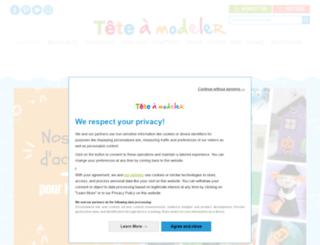 grossesse.teteamodeler.com screenshot