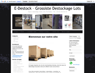 grossiste-bazar-solderie.com screenshot