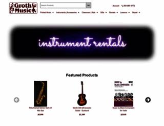 grothmusic.com screenshot