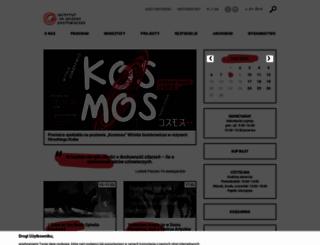 grotowski-institute.art.pl screenshot