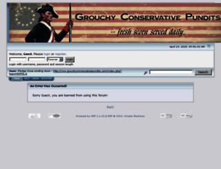 grouchyconservativepundits.com screenshot