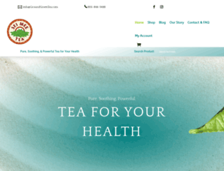 groundgreentea.com screenshot