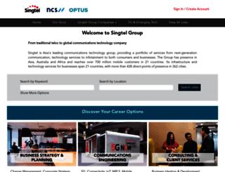 groupcareers.singtel.com screenshot