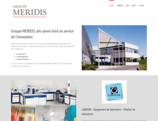 groupe-meridis.com screenshot