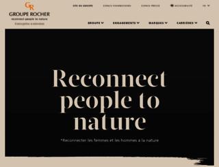 groupe-rocher.com screenshot