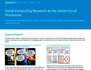 grouplens.org screenshot