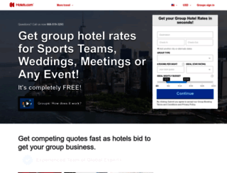 groups.hotels.com screenshot