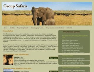 groupsafaris.com screenshot