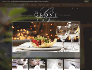 groveeventcenter.org screenshot