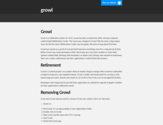 growl.info screenshot