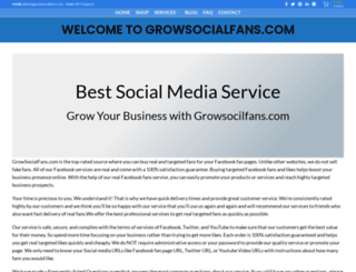 growsocialfans.com screenshot