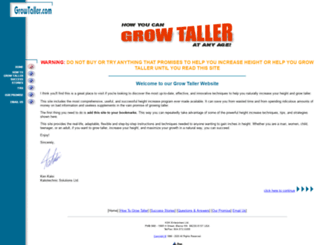 growtaller.com screenshot