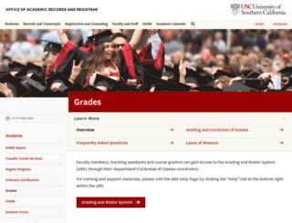 grs.usc.edu screenshot