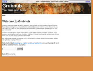 grubnub.co.uk screenshot