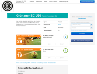 gruenauerbcue50.kadermanager.de screenshot