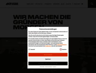 gruenden.kit.edu screenshot