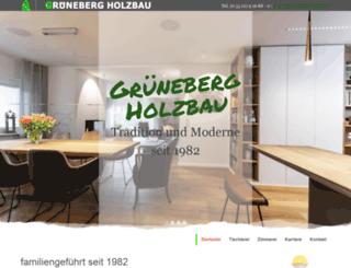 grueneberg-holzbau.de screenshot