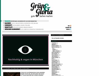 gruenundgloria.de screenshot