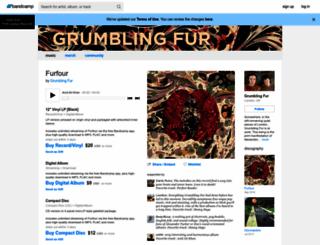 grumblingfur.bandcamp.com screenshot