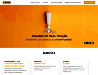grupocimed.com.br screenshot