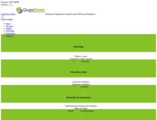 gruposeras.com screenshot
