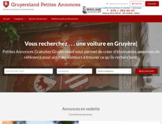 gruyereland.com screenshot