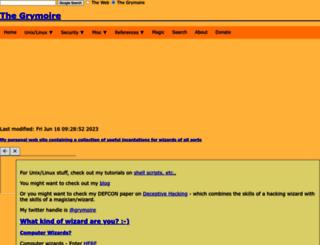 grymoire.com screenshot