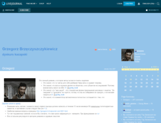 grzegorz-b.livejournal.com screenshot