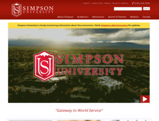 gs.simpsonu.edu screenshot