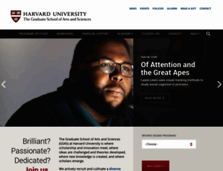 gsas.harvard.edu screenshot