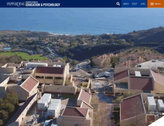 gsep.pepperdine.edu screenshot