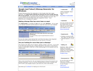 gsitecrawler.com screenshot