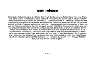 gsmrelease.com screenshot