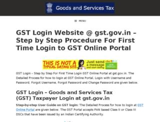 gst-login.com screenshot