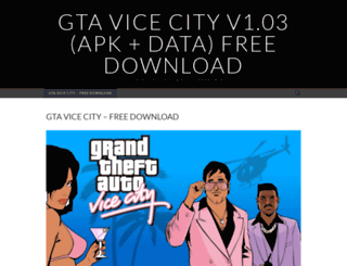 gtavicecityapkdownload.wordpress.com screenshot