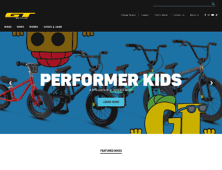 gtbicycles.com screenshot