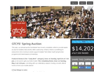 gtcys.24fundraiser.com screenshot