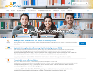 gtk.uni-miskolc.hu screenshot