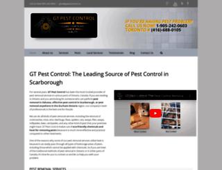 gtpestcontrol.ca screenshot