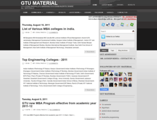 gtu-mca1.blogspot.com screenshot