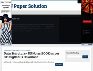 gtu-paper.blogspot.in screenshot