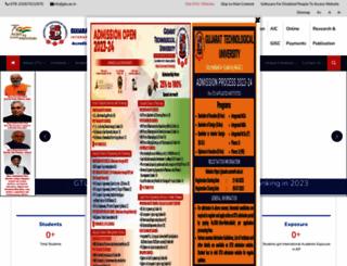 gtu.ac.in screenshot