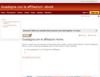 guadagnaconleaffiliazioni.wetpaint.com screenshot