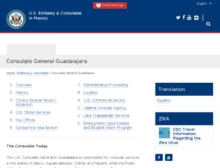 guadalajara.usconsulate.gov screenshot
