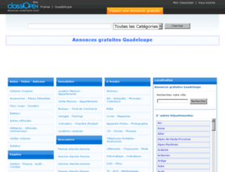 guadeloupe.classiopen.fr screenshot
